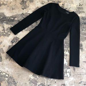 NWOT Lulus Forever Chic Black Long Sleeve Dress